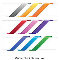 Banner ribbons in various colors - Empty colorful ribbons...