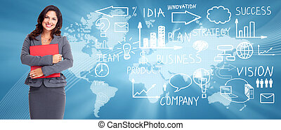 Business background. - Business people banner collage...