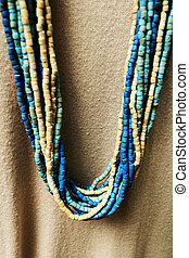 colorful of necklace and beads
