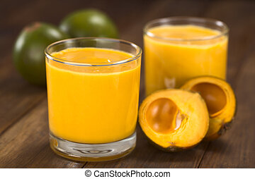 Lucuma Milkshake - Milkshake made of the Peruvian fruit...