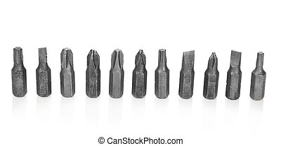 Construction bits isolated on white - The construction bits...