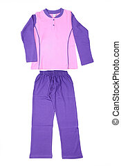 beautiful children tracksuit on a white background