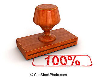 Rubber Stamp 100 - Rubber Stamp Image with clipping path