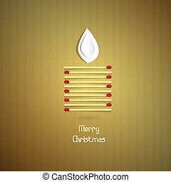 Gold Abstract Vector Merry Christmas Background