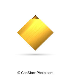 The gold rhombus template