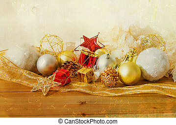 old fashioned christmas decoration - old fashioned antique...
