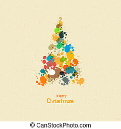 Abstract Vector Merry Christmas Background, Tree from...