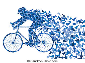 Bike vector background for poster