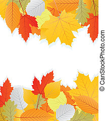 Leaves autumn vector background for poster