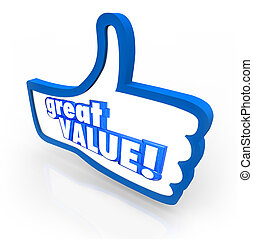 Great Value Blue Thumbs Up Symbol Review Recommendation -...