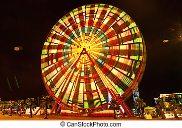 Ferris wheel an night in Batumi, Georgia (long exposure)