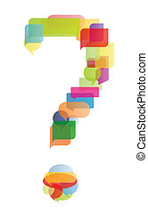 Question mark speech bubbles vector