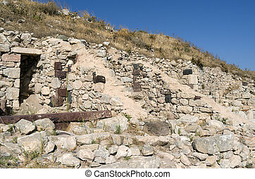 Ancient Thera.. - Ancient Thera on Santorini island in...