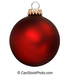 christmas ornament - red christmas ornament isolated