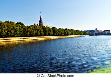 Cathedral on Kneiphof island and Fishing Village - sights of...