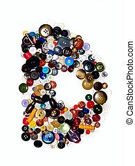 Letter D. - Letter D (Buttons).