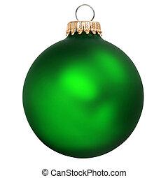 christmas ornament - green christmas ornament isolated