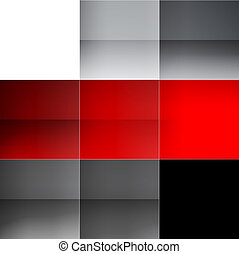 Gray and red squares abstract background RGB EPS 10 vector...