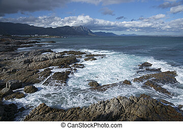 Whale Watching Capital of South Afr - Coastline at Hermanus...