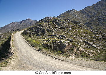 Gravel Road to the Swartberg Pass - Gravel road heading up...