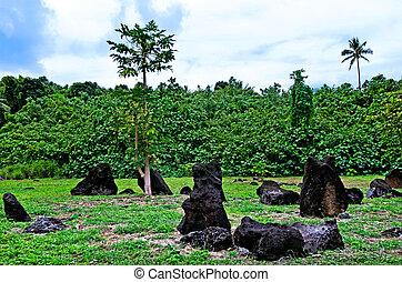Paengariki marae in Aitutaki Lagoon Cook Islands - AITUTAKI...