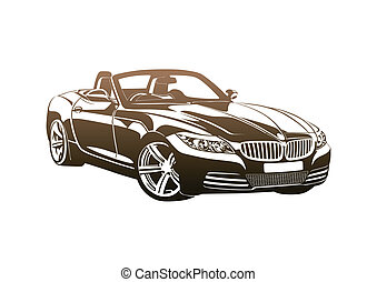 King of sport cars brown