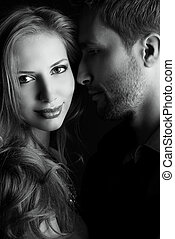 breath of love - Portrait of a beautiful young couple in...
