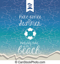 summer design - summer design over blue background vector...