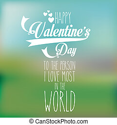 valentines day over pattern background vector illustration