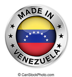 Made In Venezuela Silver Badge - Made in Venezuela silver...