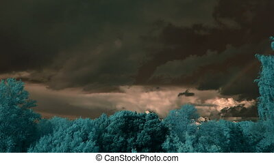 dusk storm clouds, infrared