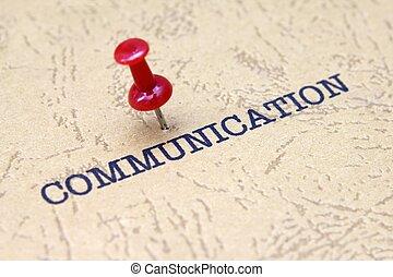 Push pin on communication