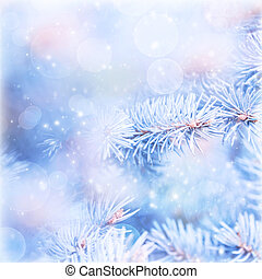 Wintertime background - Natural blue wintertime background,...