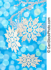 snow flakes for christmas - christmas decoration with snow...