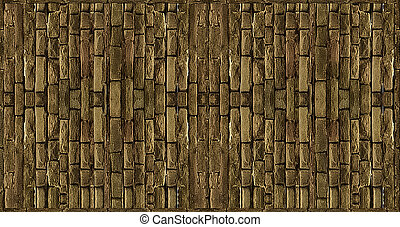 Brick Wall Wide Screen Background - Digital mock up brick...