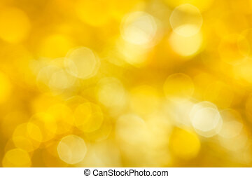 Golden festive abstraction Defocus highlights yellow...
