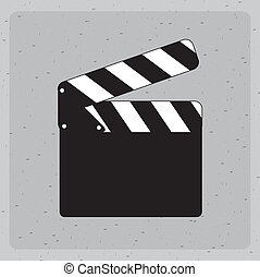 clapper - clapper design over gray background vector...