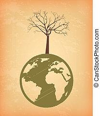 eco design over pink background vector illustration