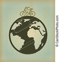 eco design over vintage background vector illustration
