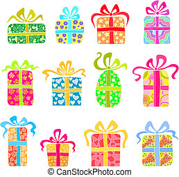 Set of holiday presents - Set of beautiful holiday presents....