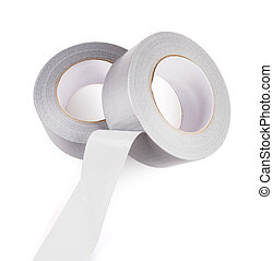 duct tape - grey duct tape isolated on white