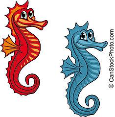 Funny seahorse - Funny underwater seahorse or hippocampus...