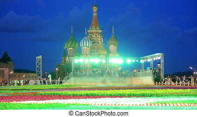 Saint Basil's Cathedral, Moscow, Russia - People around...