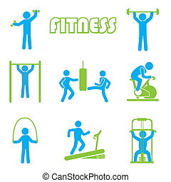 fitness icons over white background vector illustration