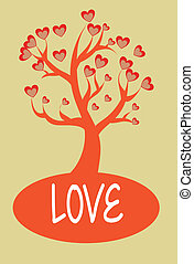 love design over cream background vector illustration