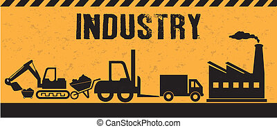 industry design over background vector illustration