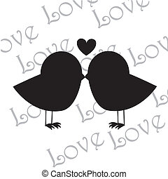 love birds over white background vector illustration