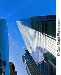 Urban sky - A picture of a few skyscrapes in a perspective...
