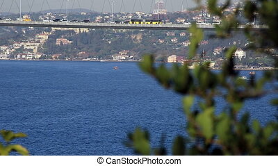 Bosporus and Bosporus Bridge - traffic on the Bosporus...