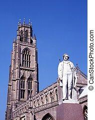 St Botolphs Church, Boston, UK - Statue of Herbert Ingram in...